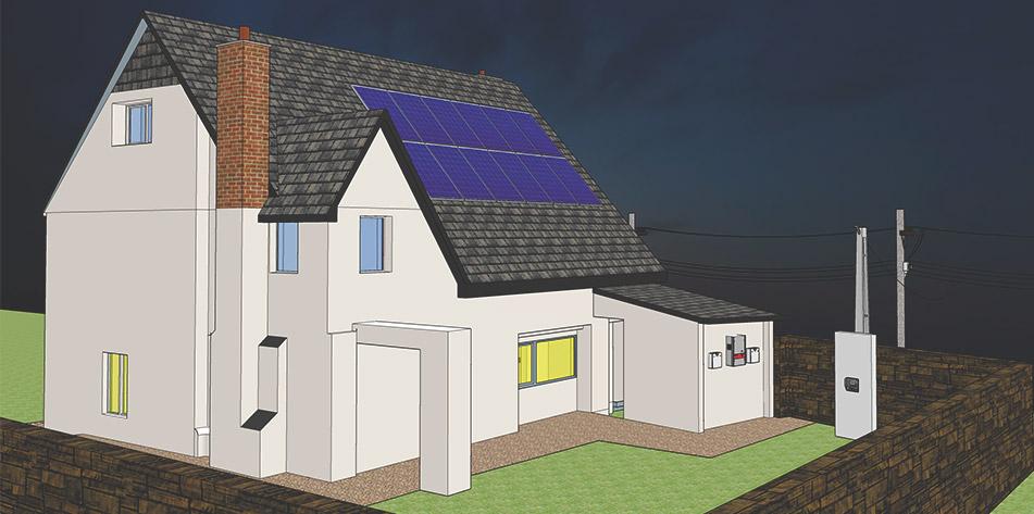 casa painel solar