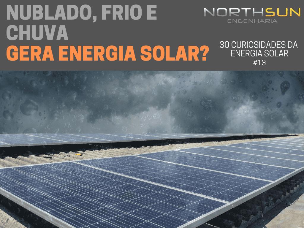 energia solar na chuva