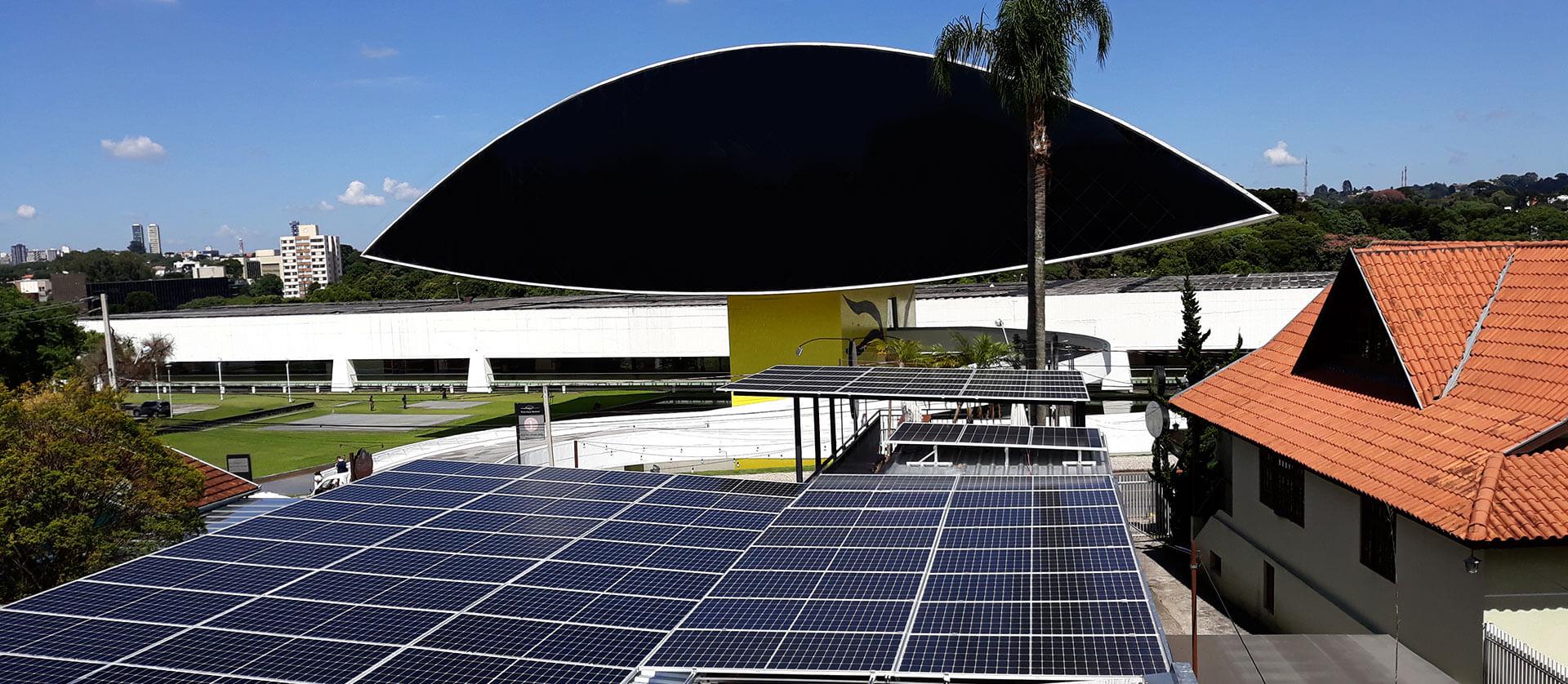 museu do olho energia solar
